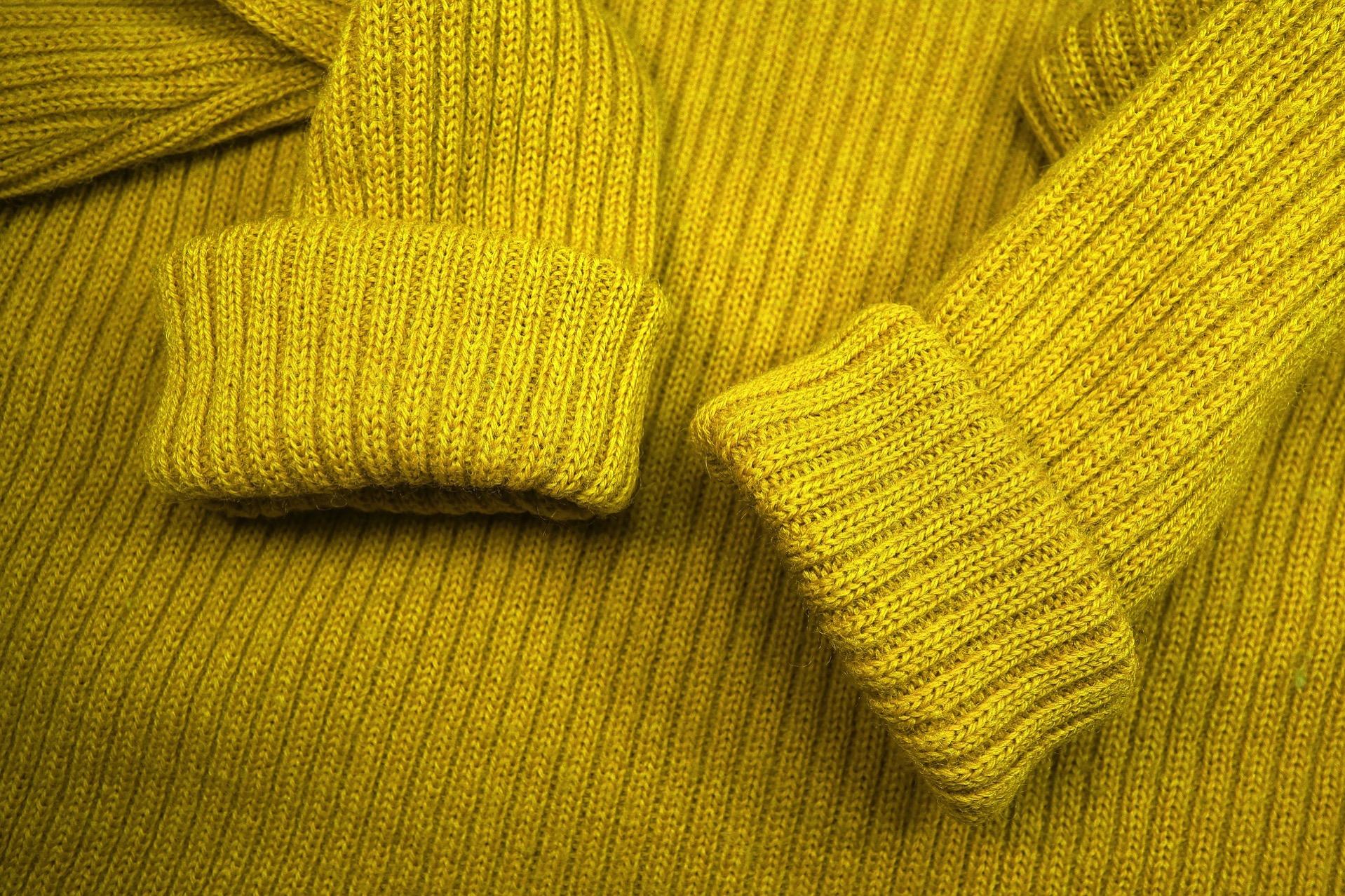 セーター 厚着
