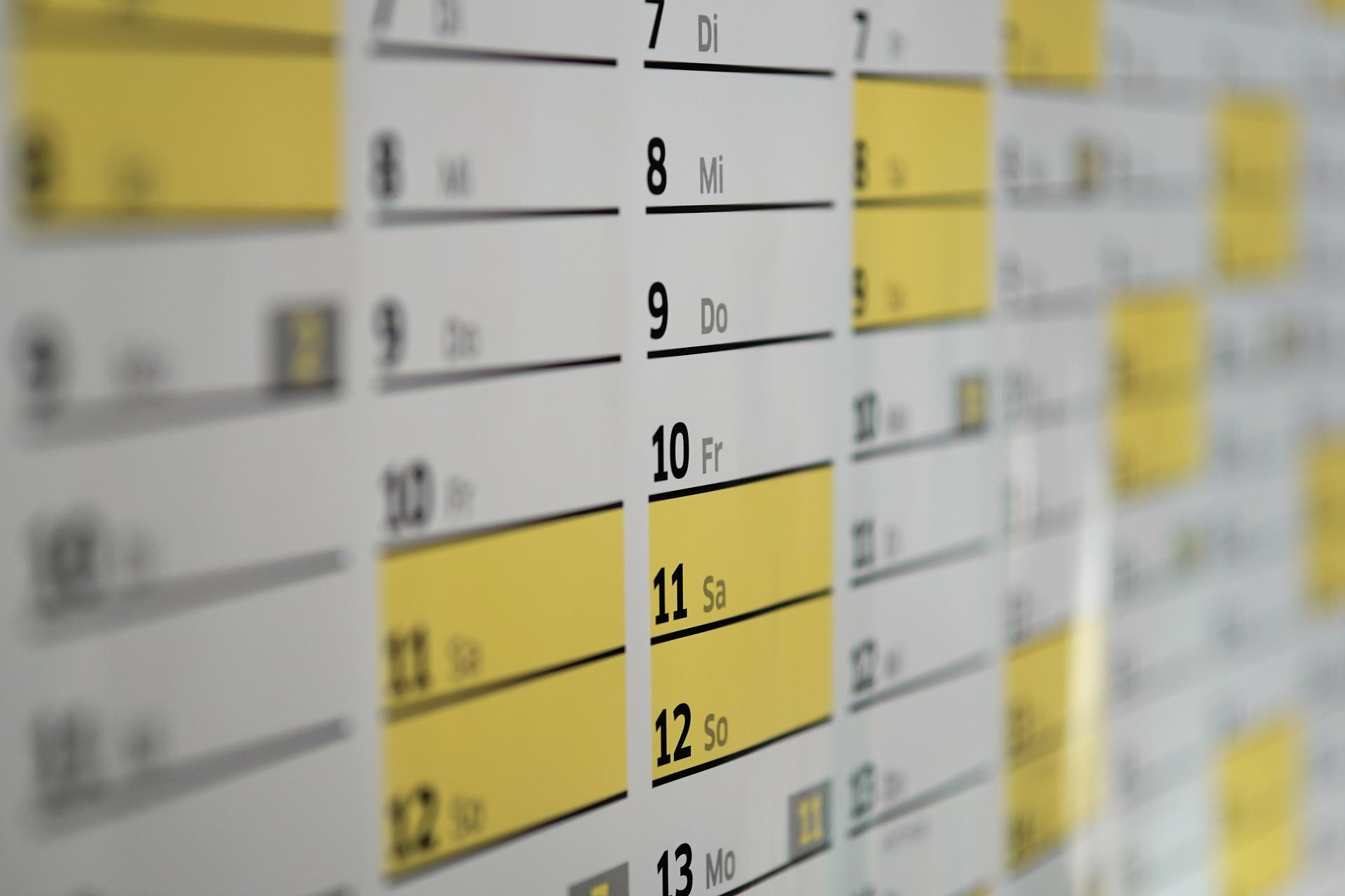 スケジュール帳 カレンダー タスク