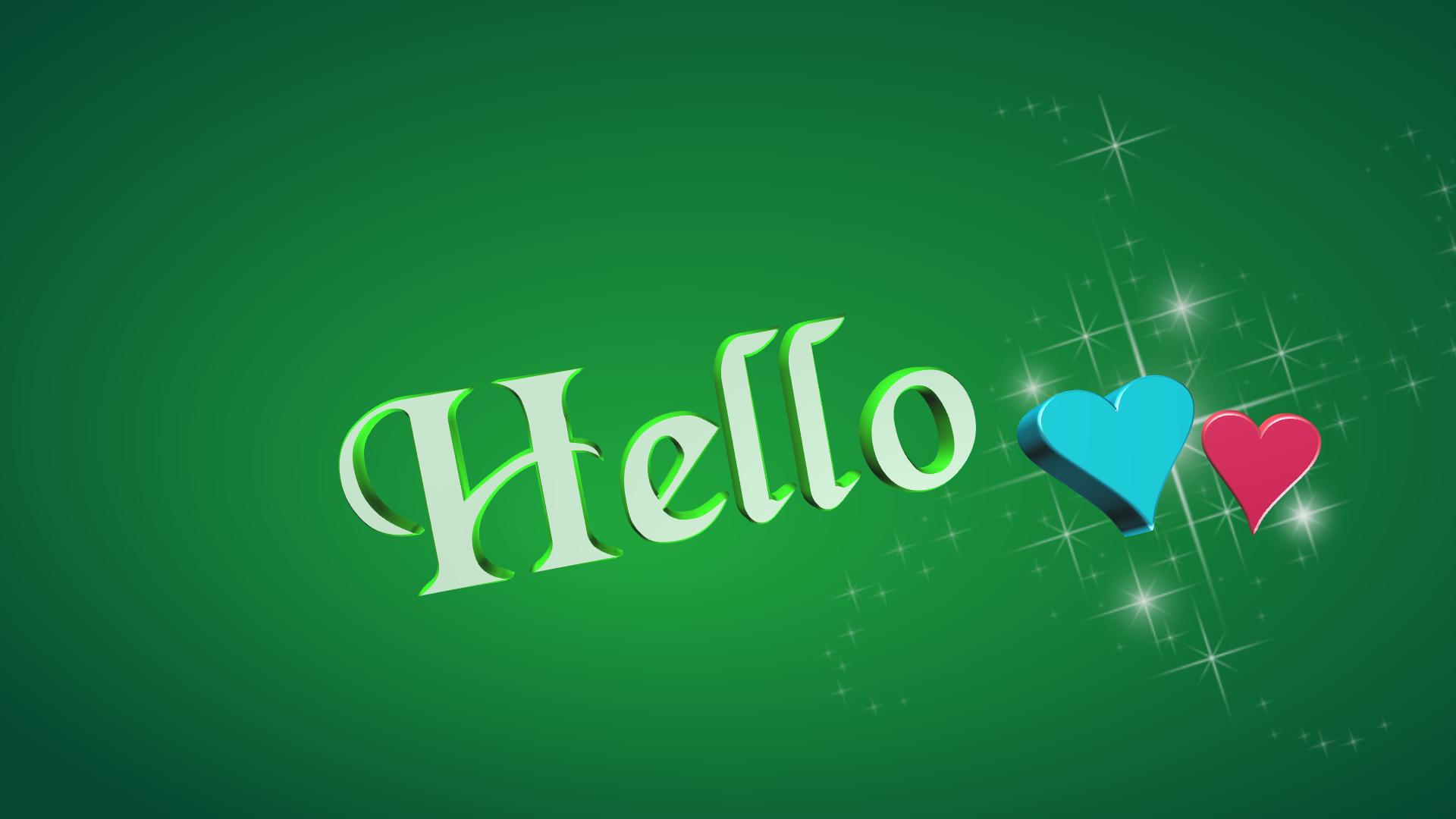 ハロー hallo 挨拶