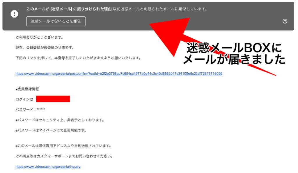 ビデオキャッシュ メール