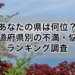 都道府県 悩み ランキング